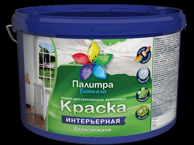 Мега-Арбат - Интерьерная краска супербелая, 3кг, Палитра Байкала